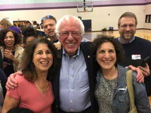 Shakeh Herbekian with Bernie Sanders